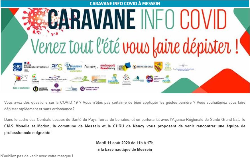 Caravane Info – COVID
