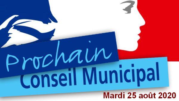 Mardi 25 août 2020 : Réunion du conseil municipal