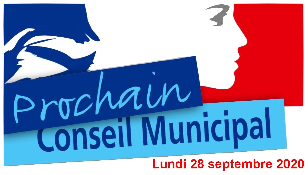 Lundi 28 septembre 2020 : Réunion du conseil municipal