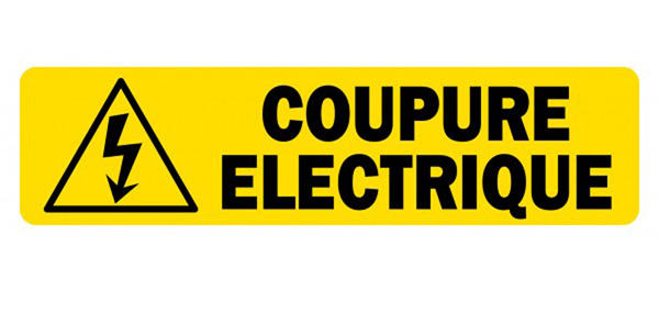Coupure d'électricité