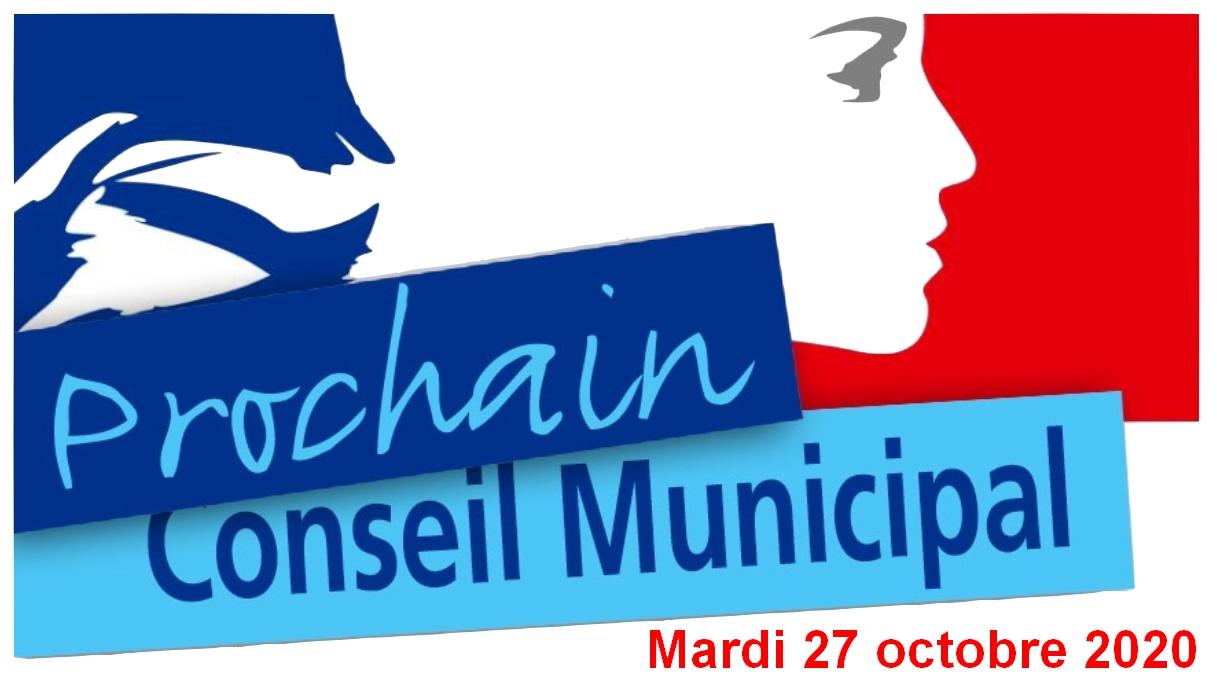 Mardi 27 octobre 2020 : Réunion du conseil municipal