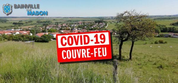 Couvre-feu en Meurthe-et-Moselle et à Bainville !