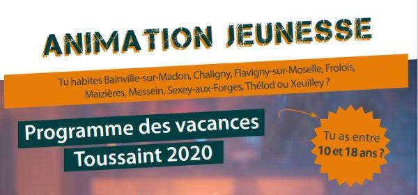 Accueil jeunes CCMM : Programme des vacances de la Toussaint