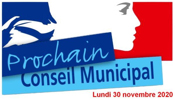 Lundi 30 novembre 2020 : Réunion du conseil municipal