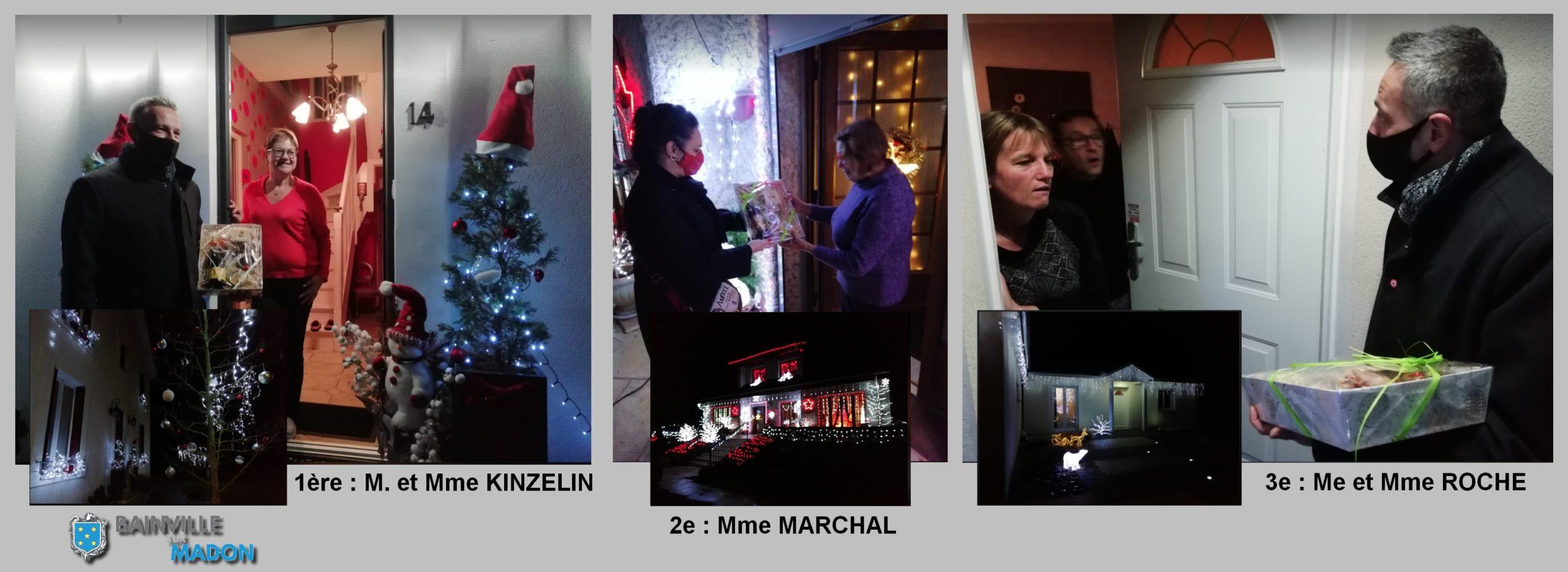 Les 3 lauréats des maisons décorées pour les fêtes de fin d'année 2020