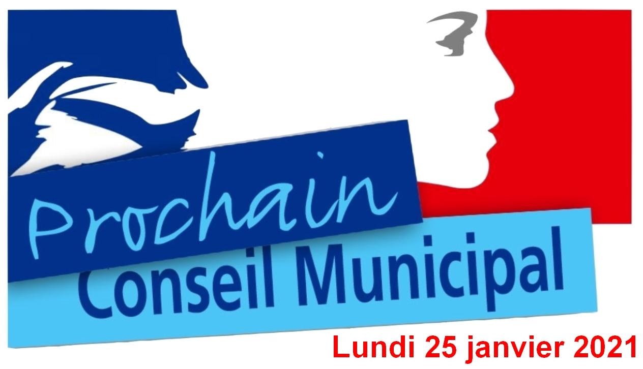 Lundi 25 janvier 2021 : Réunion du conseil municipal