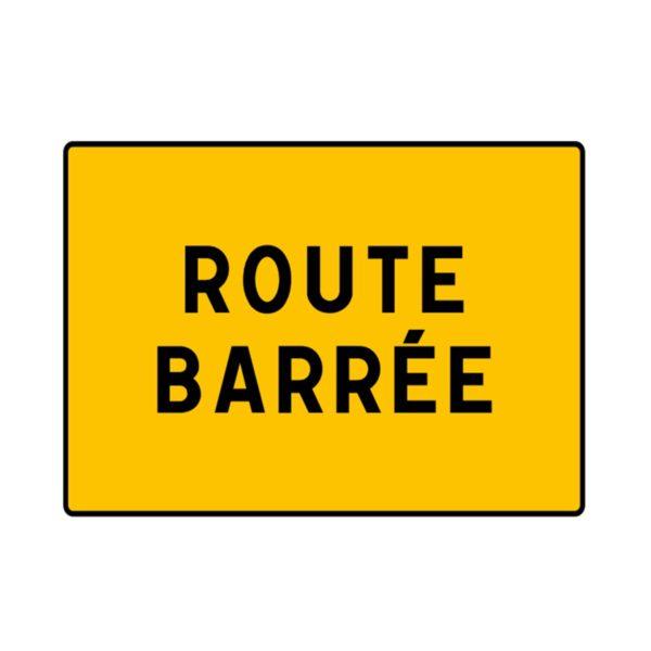 Route barrée : haut de la rue du Fort inaccessible.