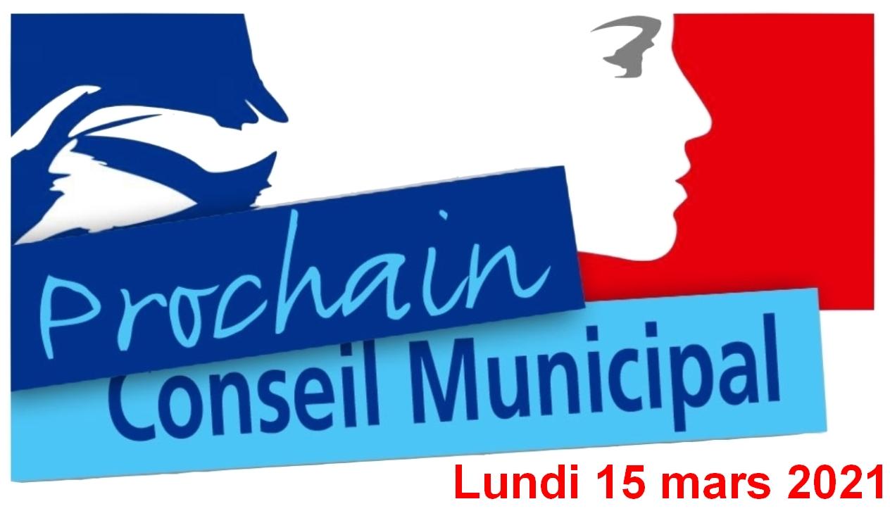 Conseil municipal du 15 mars 2021