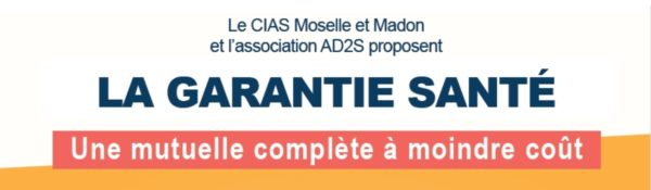 Le CIAS Moselle et Madon et l'association AD2S propose une mutuelle santé !