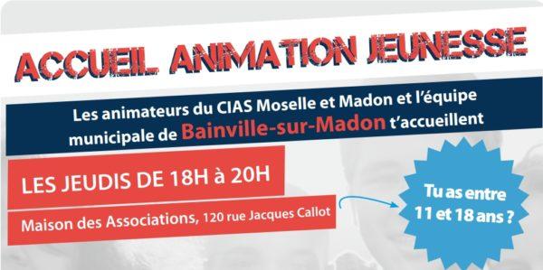 Programme des activités de l'accueil des Animados à Bainville-sur-Madon
