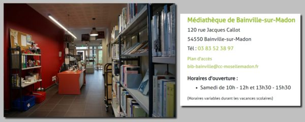 Horaires d'ouverture de la bibliothèque de  Bainville-sur-Madon
