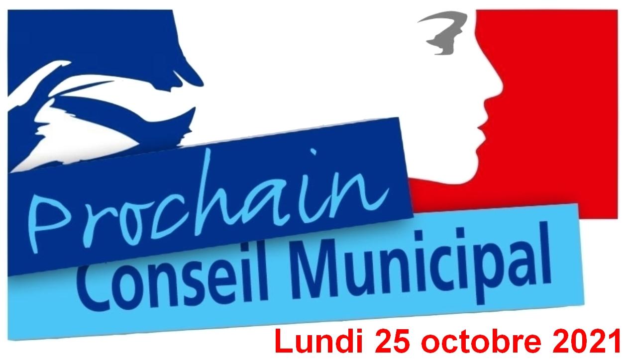 Conseil municipal du 25 octobre 2021