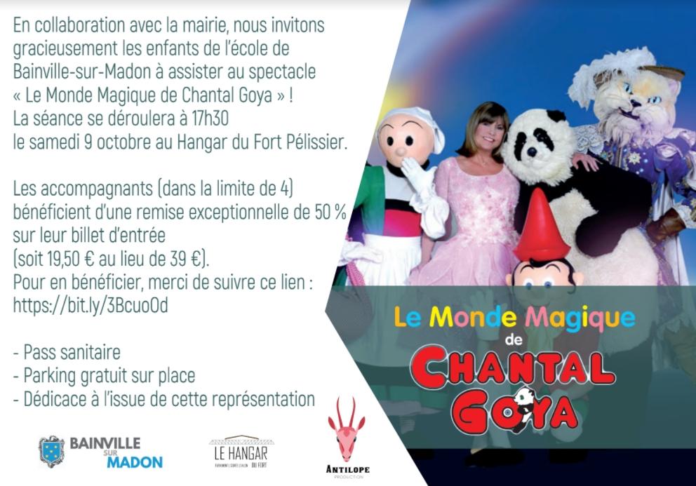 Les enfants de l'école de Bainville invités au spectacle de Chantal Goya !